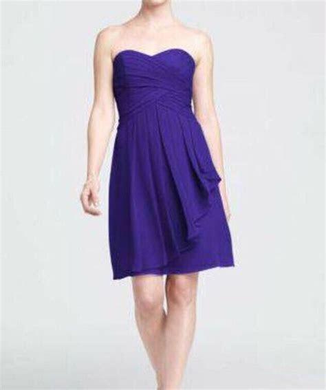 davids bridal regency purple strapless ladies bridesmaid