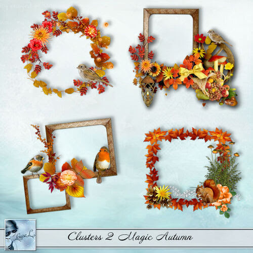 Clusters, embellissements Magic Autumn