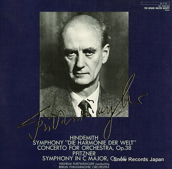 FURTWANGLER, WILHELM hindemith; symphony die harmonie der welt