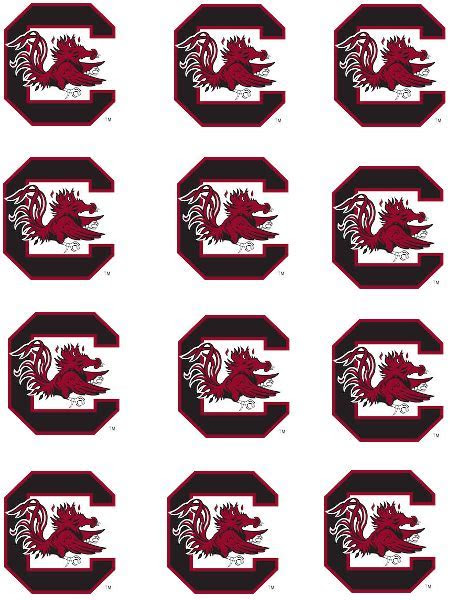 Cake Toppers South Carolina Gamecocks Cupcake Toppers Edible