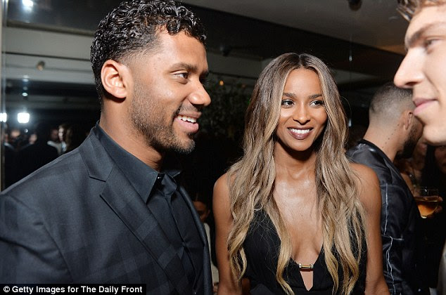 Social butterflies: Russell and Ciara chatted it up with guests as they enjoyed their time at the star-studded event