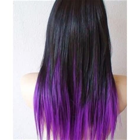 tie and dye violet sur cheveux noir   Recherche Google   Polyvore
