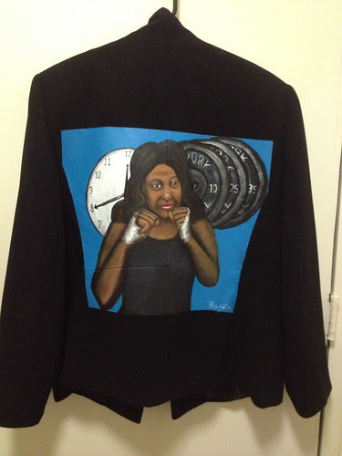 """Eyes on the Prize"" a jacket for Dominique Beatty"