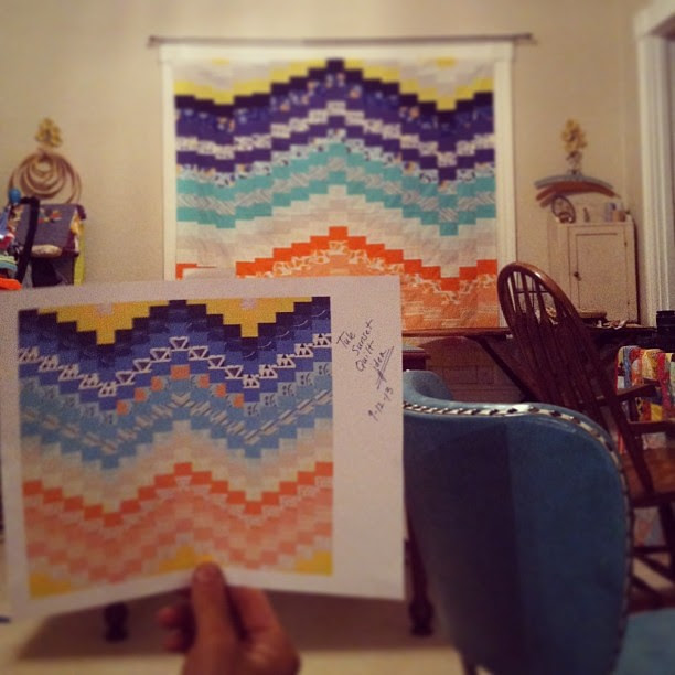 I love it when a plan comes together! #leahduncan #tulefabric #sunrise #quilt