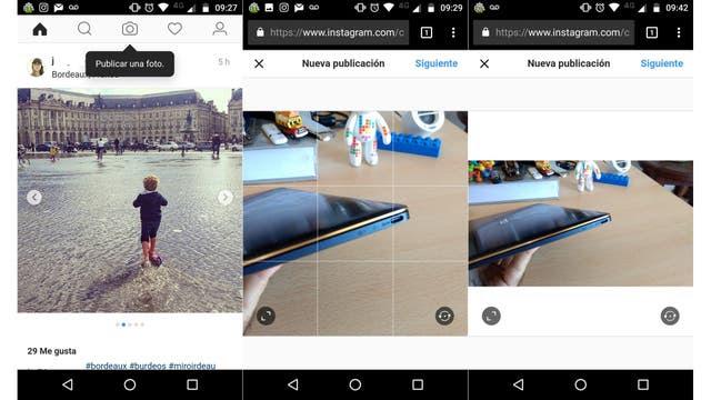 Instagram ahora permite publicar fotos desde la Web