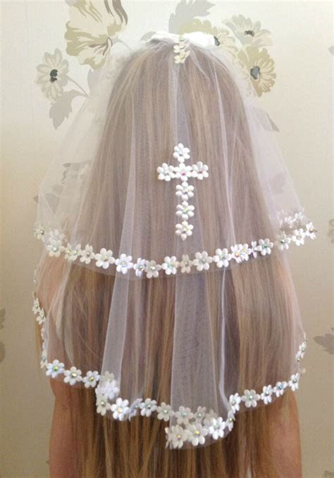girls white communion veil girls accessories holy