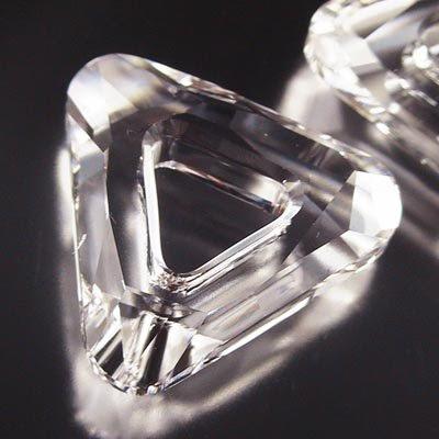 96847370040001 Swarovski Fancy Stone - 20 mm Open Triangle (4737) - Crystal (1)
