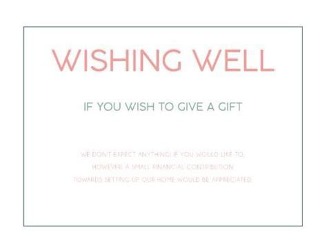 Wedding Wishing Well Cards   Customise And Print Online