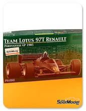 Kit 1/20 Fujimi - Lotus Renault 97T Olympus - Nº 11, 12 - Ayrton Senna, Elio de Angelis - Gran Premio de Portugal 1985 - maqueta de plástico