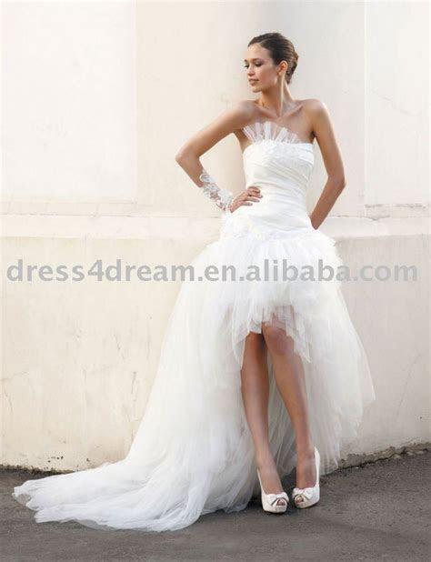 Wedding dress short front long back   All women dresses