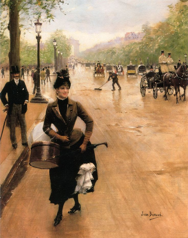The Milliner on the Champs Elysées  ARTIST: Jean Béraud  COUNTRY OF ORIGIN: France;soyouthinkyoucansee