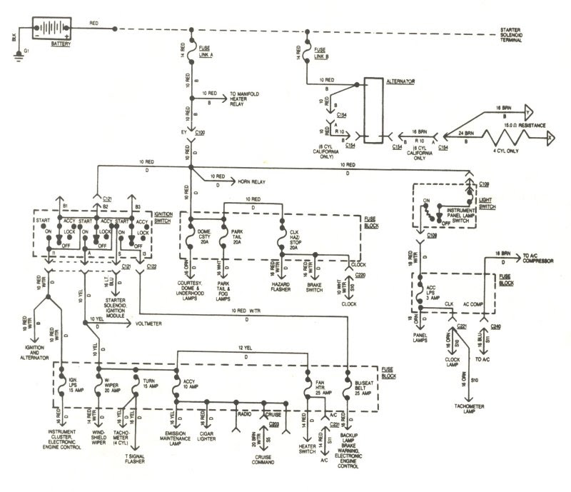 Cj Speedometer Cluster Wiring Diagram