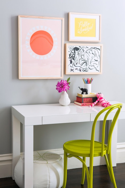 White Parsons Desk - Contemporary - girl's room - Serena and Lily ...