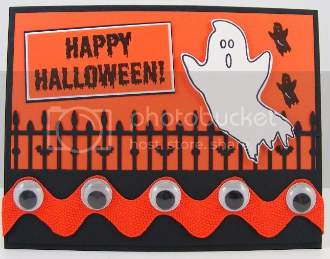 Halloween Ghosts Card