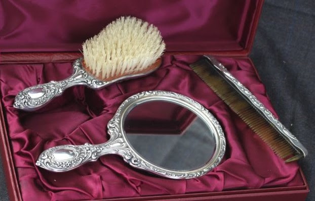 Antique Silver Vanity Mirror And Brush Sets Vintage Silver Collecting