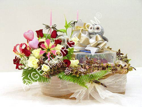 Birthday Flowers Birthday Bouquet Birthday Wish With Cake Angel Florist