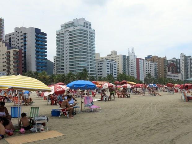 Praia Grande (Foto:  Rodrigo Martins/G1)