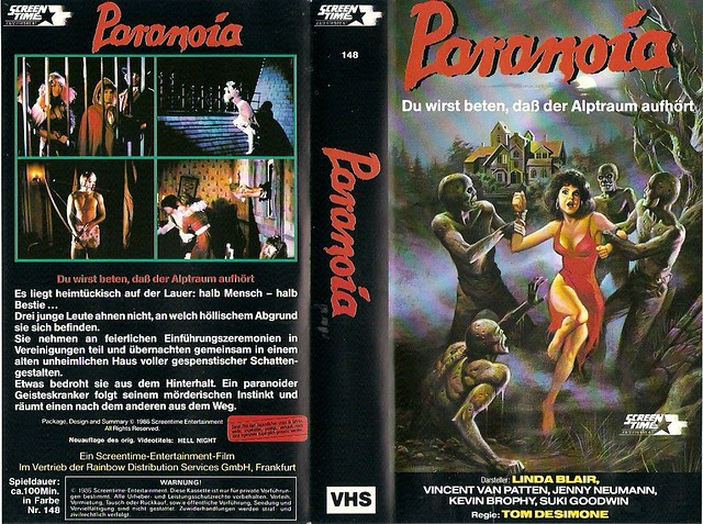 Paranoia (VHS Box Art)