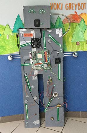 Greybot : un robot réalisé dans une classe de PS-MS-GS