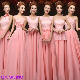 CX SHINE 6 style long Lace chiffon Bridesmaid Dresses Sky
