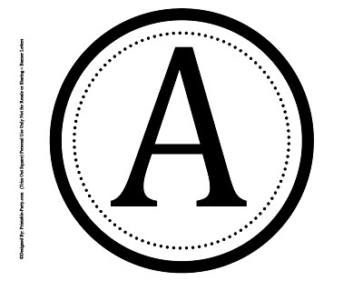 Large Circle Printable Alphabet Letters A-Z | 8 Inch Printable ...