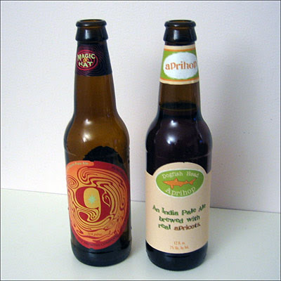 Magic Hat No. 9 and Dogfish Head Aprihop