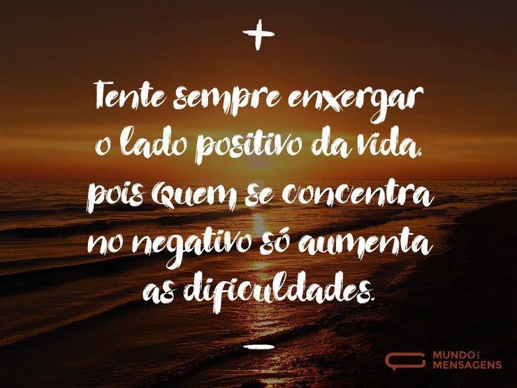 O lado positivo da vida