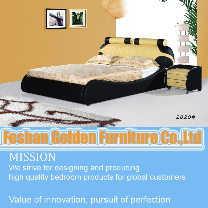 Home Furniture Wood Double Bed Designs (2820) - China Bed Designs ...