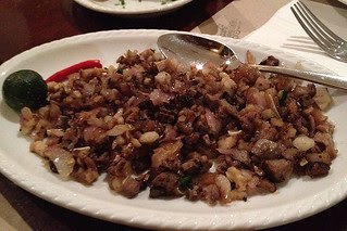 Eating in Manila - Sisig