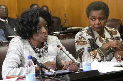 Justice Rita Makarau and Mrs. Joyce Kazembe of the Zimbabwe Electoral Commission. The country is preparing for national harmonized elections on July 31, 2013. by Pan-African News Wire File Photos