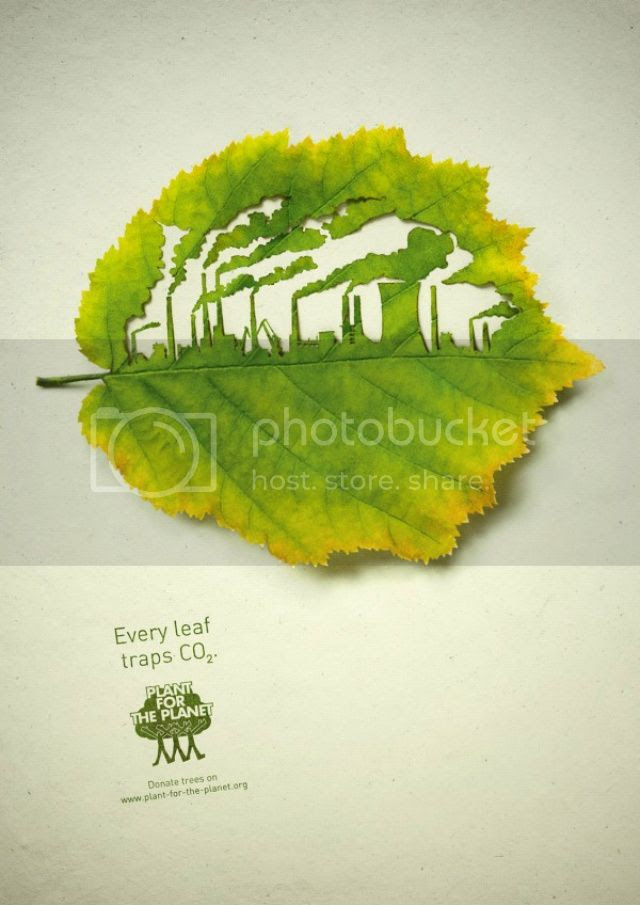 Cut Leaf Illustration, Plant for the Planet