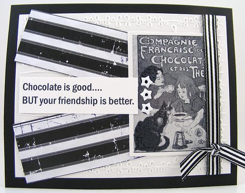 Chocolate and Friendship Card