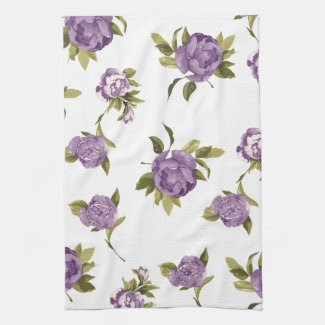 Lavender Roses Shabby Chic Hand Towel