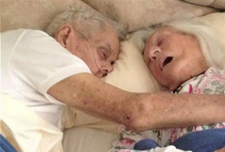 Estiveram casados 75 anos. E morreram nos braços um do outro