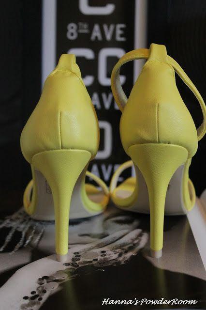 yellow high heels Hanna's PowderRoom Blog