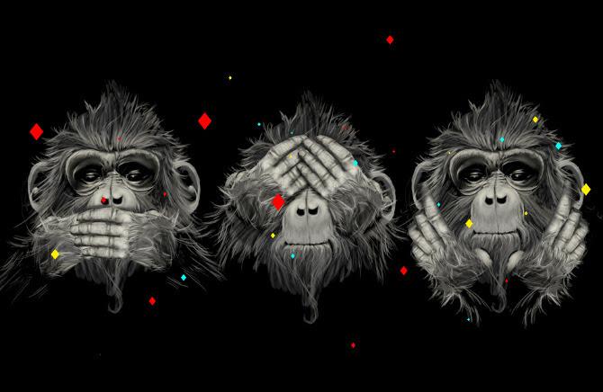 Resultado de imagem para 3 macacos