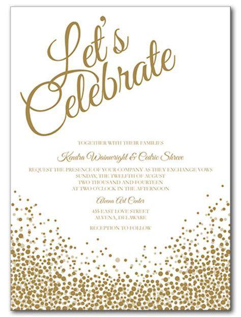 Wedding Invitations, Let's Celebrate Invitation