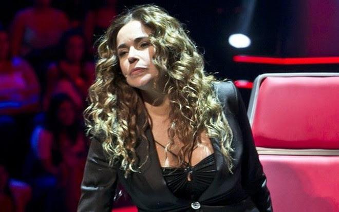Daniela Mercury em participação do The Voice Kids de Portugal, em 2014 - Divulgação/RTP