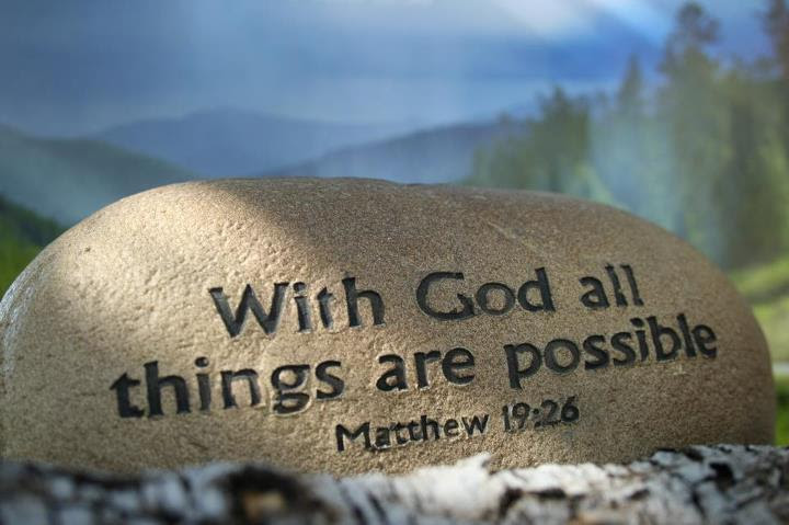 With God All Things Are Possible Bible Quote Quotespicturescom
