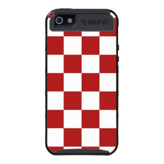 Checkered Red and White Covers For iPhone 5