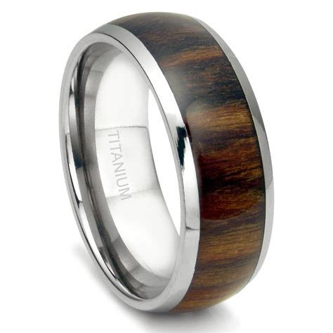 2019 Popular Wood Grain Men's Wedding Bands