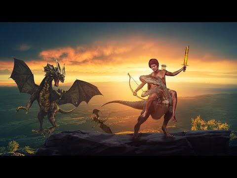 Photo Manipulation & Game | Making Dragon Warrior Game Effect | Dramatic...