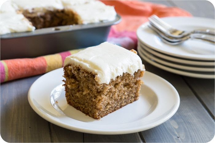 Old-Fashioned Spice Cake with Cream Cheese Frosting