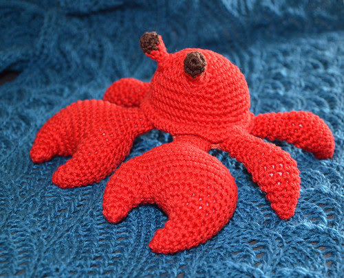 Wesley Crab amigurumi