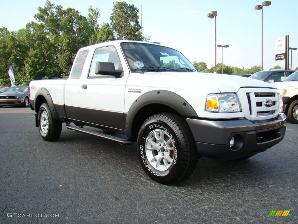 2009 Ranger FX4 Off-Road SuperCab 4x4 - Oxford White / Ebony/Red photo ...