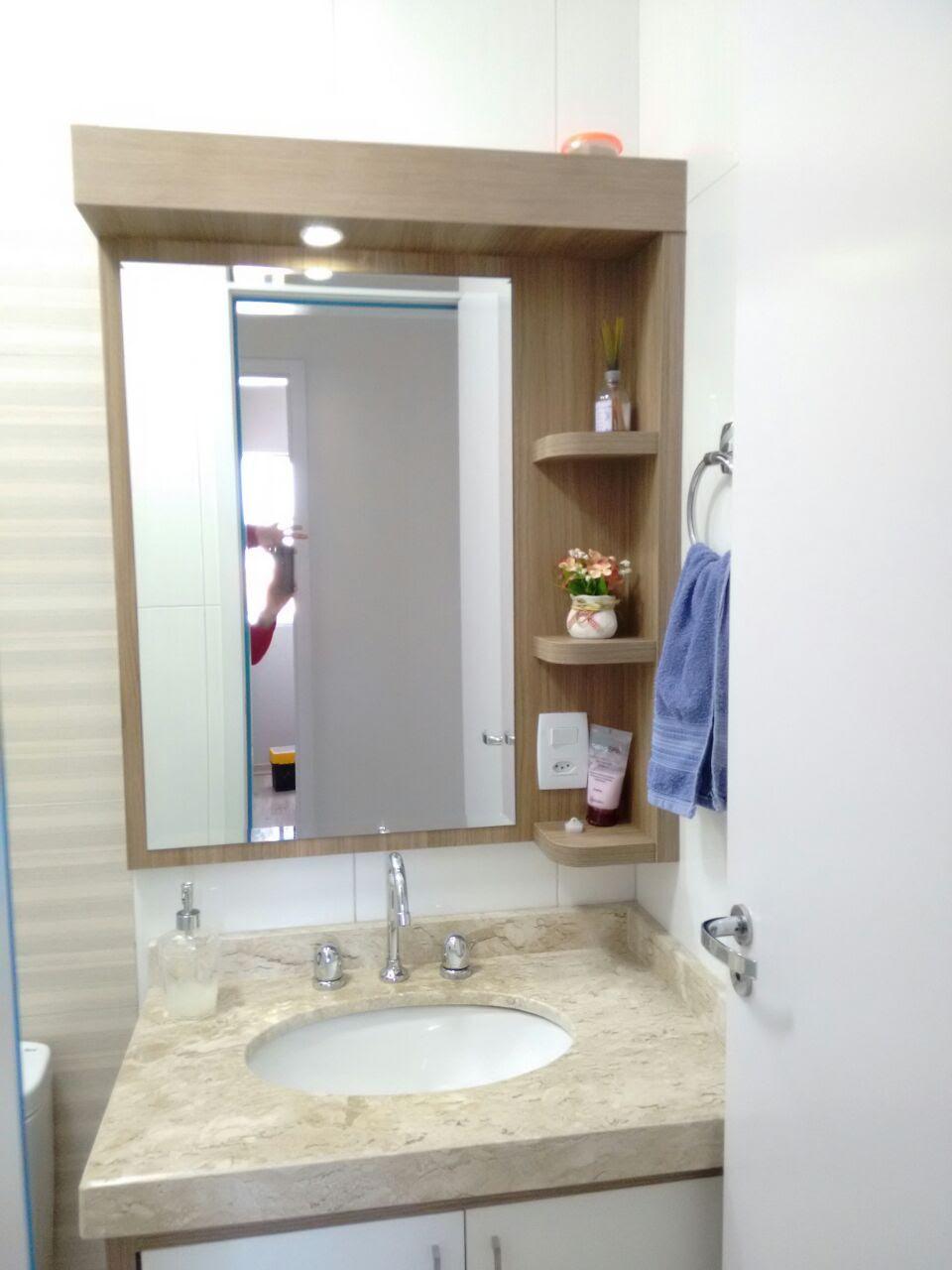 Armario, Gabinete De Banheiro Completo Estela C/ Cuba