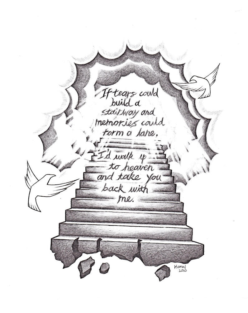 Stairway To Heaven Tattoo Outlines