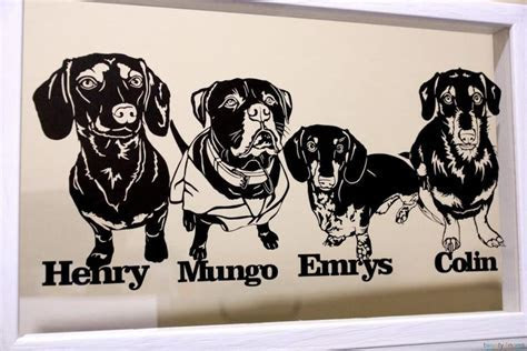 Personalised Dog Portrait Papercut in a Floating Frame