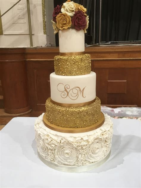 5 Tier Wedding Cakes ? classic cakes.com ? Sugar/Fresh Flowers