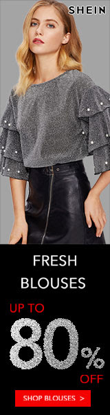 Fresh Blouses! Blouses now up to 80% off! Visit SheIn.com! Ends 11/26